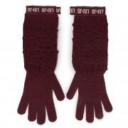 Дамски ръкавици LIU JO - Guanti Maglia Goffra 269051 M0300 Dark Red 91530