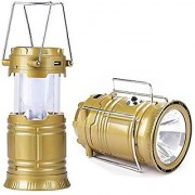 Standard Sales Led Solar Emergency Hand Lamp Light Bulb (Lantern) Rechargeable Battery Solar Powered With Torch (Gold)