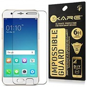 Oppo A57 Flexible Compatible - Tempered Glass Screen Protector with 9H Hardness Premium Crystal Clarity