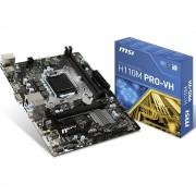 Matična ploča MSI Mainboard H110M PRO-VH LGA115 mATX Baza Intel® 1151 Faktor oblika Micro-ATX Set čipova matične ploče Intel