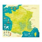 Магнитна пъзел карта на Франция Vilac