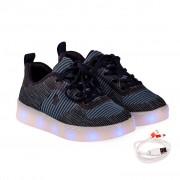 Pantofi Sport Baieti Bibi Click Cu Led