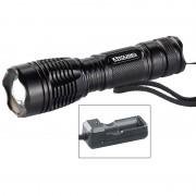 KryoLights LED-Taschenlampe TRC-144.a inkl. Akku und Ladegerät 1000 lm, IP44