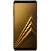"""Telefon mobil Samsung Galaxy A8 Plus (2018), Procesor Octa-Core 1.6GHz/2.2GHz, Super AMOLED 6"""", 4GB RAM, 64GB Flash, 16MP, Wi-Fi, 4G, Dual Sim, Android (Auriu) + Cartela SIM Orange PrePay, 6 euro credit, 4 GB internet 4G, 2,000 minute nationale si interna"""
