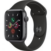 Ceas Smartwatch Apple Watch Series 5, GPS, 40mm Space Grey Aluminium Case, Black Sport Band