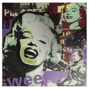 Tableau design 'MARIPOP' Marilyn Monroe toile imprimée 100x100 cm