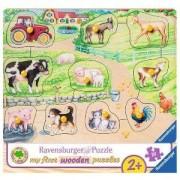 Моят първи пъзел Ravensburger 10 части - Сутрин във фермата, 7003689
