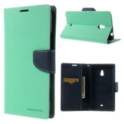 Mercury Goospery Fancy Diary Wallet Case for Nokia Lumia 1320 - Mint