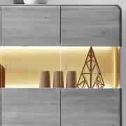 ROUND Glasrückwand beleuchtet 101 cm für Vertiko und Highboard