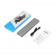 EY F18 Caja Moonlight Multi-Device teclado Bluetooth para iOS tabletas-Gris