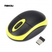 Maikou 2.4GHz Wireless Optical Mouse 1200dpi Ratones Con Receptor USB 2.0 Amarillo