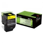 LEXMARK 802Y Cartridge for CX310dn/310n/410de/410dte/410e/510de/510dhe/510dthe - 1 000 pages, Yellow (80C20Y0)
