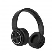 PICUN B12 Over-ear Bluetooth 5.0 Stereo Foldable Headphone Headset with Built-in Microphone - Black