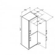 GARANTIE 4 ANI Combina frigorifica Liebherr, congelator NoFrost, clasa A++, usi inox CNef 3515