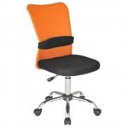エアロメッシュ W420×D520×H910-1010mm オフィスチェア 事務椅子 肘無し オレンジ デスクチェア OAチェア メッシュチェア オフィス家具