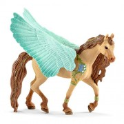 Schleich Decorated Pegasus Stallion Figurine Toy, Multicolor