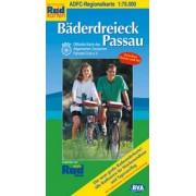 Fietskaart ADFC Regionalkarte Bäderdreieck Passau | BVA