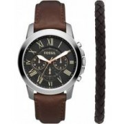 Fossil Mens Grant Watch and Bracelet Gift Set