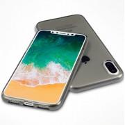 Telefoonhoesje.nl Apple iPhone X / iPhone XS, Transparant gel hoesje, Doorzichtig grijs - Geschikt voor: Apple iPhone X / Apple iPhone XS