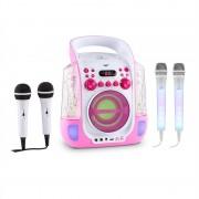 Auna KARA LIQUIDA, караоке в розово+ DAZZL микрофонен комплект, караоке микрофон, LED осветление (PL-9360_1952)
