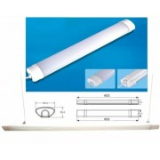 Led Tri-proof vízálló lámpa, IP65, 60 cm, 18W, 1820 lumen, 65*58*35, 3 év garancia!