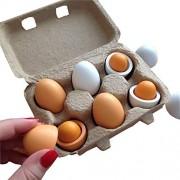 Wooden Kitchen Toy Girls Pretend Play Toys Set Yolk Food Eggs Preschool Educational Toys for Children