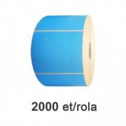 Role de etichete semilucioase albastre 110x80mm, 2000 et./rola