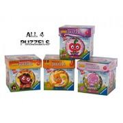Moshi Monsters 3D Puzzle Ball: Luvli, Poppet, Katsuma, and Diavlo (Set of 4)