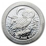 Stříbrná mince 2 Dollars Athenian Owl (sova athénská, sýček obecný) Niue 1 Oz 2017