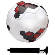 Kit of Premier League Red/Yellow Football (Size-5) with Air Pump & Needle
