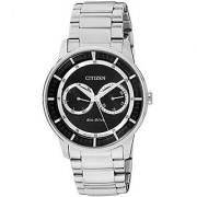 Citizen Black Stainless Steel Round Dial Quartz Watch For Men (BU4000-50E)