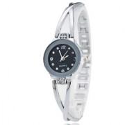 ITHANO Fashion Women Ladies Bracelet Black Dial Wrist Watches Round Quartz Analogue Watch