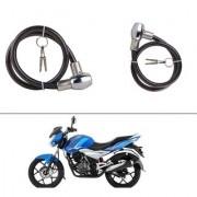 AutoStark Heavy Duty Multi Purpose Goti/Key Helmet Lock (Black) (Pack of 1) for Bajaj Discover