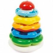 Jucarie interactiva piramida cu 5 inele colorate Clementoni