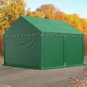 TOOLPORT Storage Tent 3x4m PVC 500 g/m² dark green waterproof