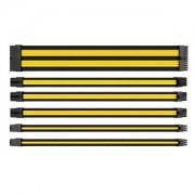 Set cabluri prelungitoare Thermaltake TtMod Sleeve Cable Kit, cleme incluse, 300mm, Black / Yellow
