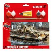 Airfix PZKW VI AUSF.B King Tiger Starter Gift Set (1:76 Scale)