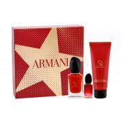 Giorgio Armani Sì Passione подаръчен комплект EDP 50 ml + EDP 7 ml + лосион за тяло 75 ml за жени