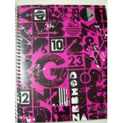 Staples Wide Ruled Durable Poly Cover Pocket Spiral Notebook ~ Mod Squad (100 Sheets, 200 Pages, 2 Pockets)