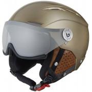 Bollé Backline Visor Premium Ski Helmet Shiny Gold/Cognac M 19/20