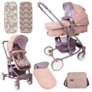 Бебешка количка с трансформиращ се кош Lorelli Aster, beige and brown line, 0750216
