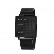 Biegert & Funk Qlocktwo W39 Horloge Black Steel NL - Milanese band