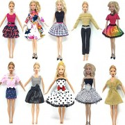 Pi² Princess Doll Dresses Party Gown Barbie Doll Fashion Designer Outfits (Dolls not Included)