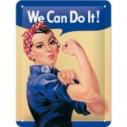 ART Plåtskylt 'We Can Do It!' 15x20cm