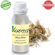 KAZIMA Khus Attar Perfume For Unisex (30ML) - Pure Natural Undiluted (Non-Alcoholic)