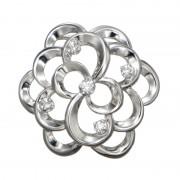 純PT ダイヤモンドデザインペンダントヘッド 「フローラル」【QVC】40代・50代レディースファッション