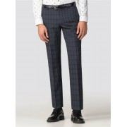 Ben Sherman Navy Check Tailored Fit Suit Trouser 46R Blue