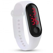 FARP Digital led watch band type white colour mens watch boys watch womens and girls watch