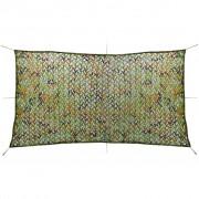 vidaXL Plasă de camuflaj cu geantă de depozitare, 1,5 x 3 m