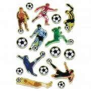 Merkloos 16x Voetbal stickertjes voor kinderen